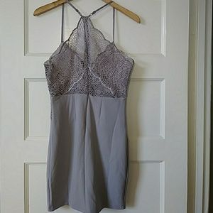 Fashion Nova Dresses - NWT Blue/gray pattern dress size M